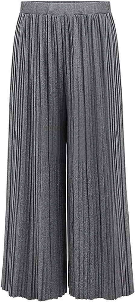 Mujer Pantalones Anchos Elastische Taille Anchas Plisado ...
