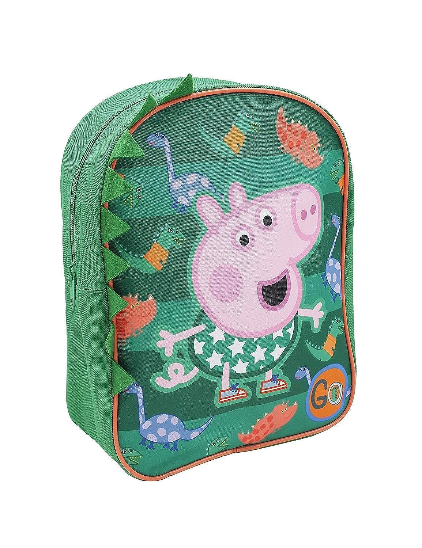 Peppa Pig George Dos Sacs /& Accessoires Mati/ère Synth/étique Enfants Sacs Vert//Multi