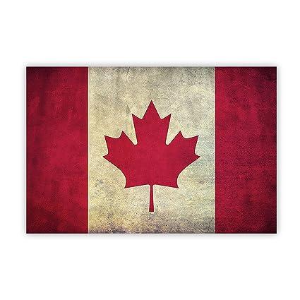 Amazon.com: BABE MAPS Print Artwork Vintage Retro Canada Flag Canvas ...