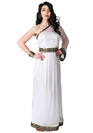 Amazon.com: Plus Size Womens Grecian Goddess Costume White ...