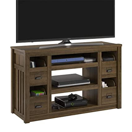 Amazoncom Ameriwood Home Adams Tv Stand For Tvs Up To 55 Brown