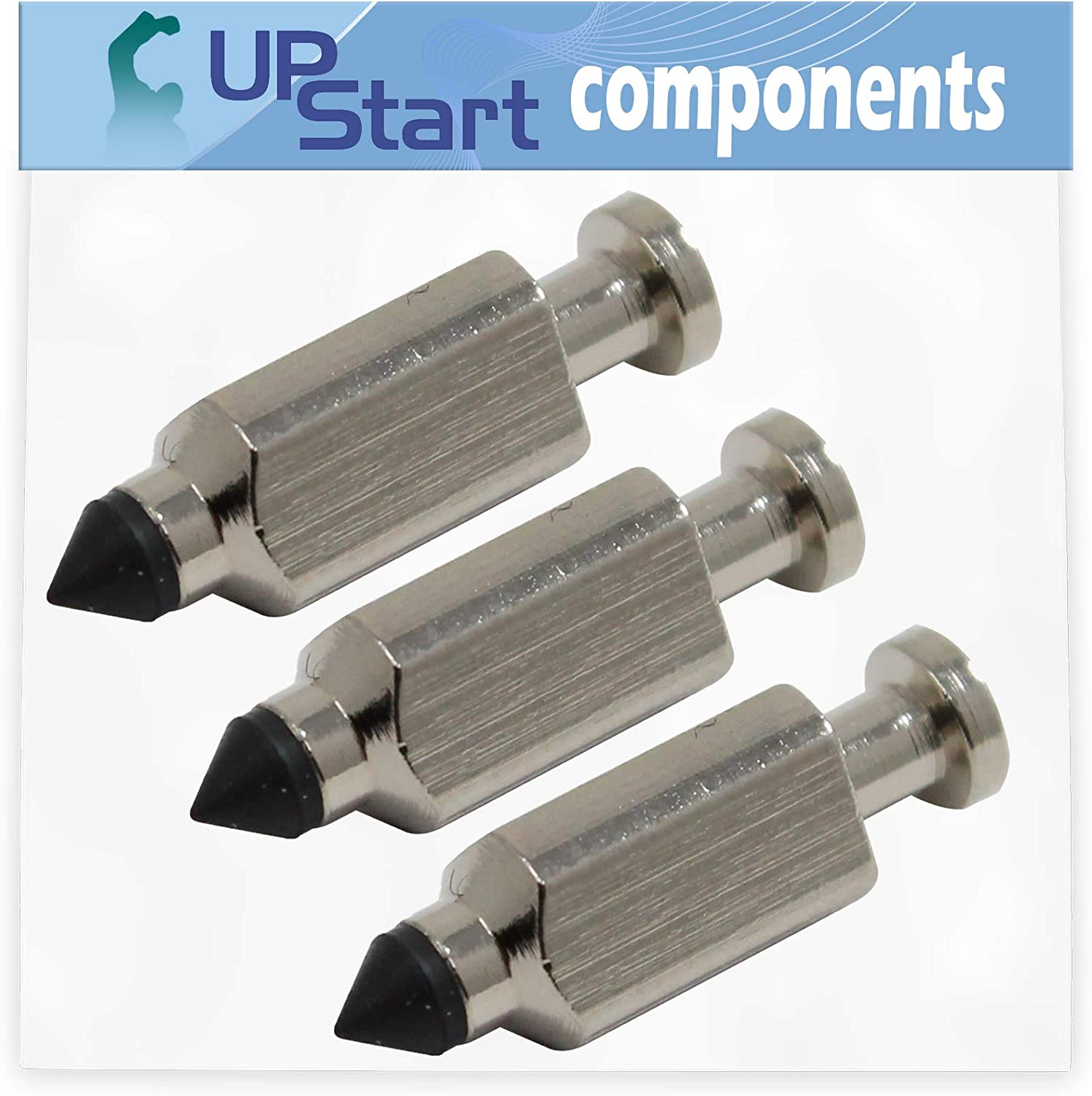 55AC5GMR050 WAM Wide Area Mower Compatible with 231855 Carburetor Float Valve UpStart Components 3-Pack 231855S Float Needle Valve Replacement for Cub Cadet G1236