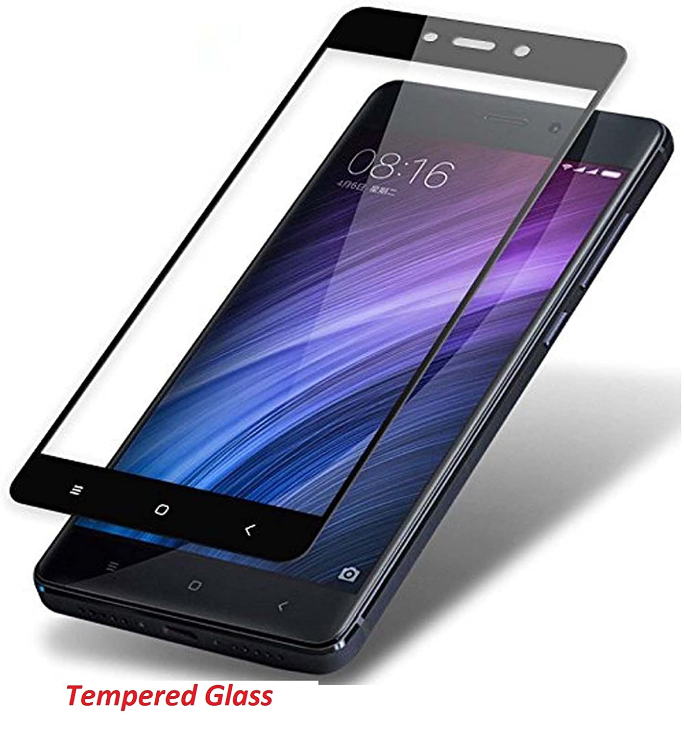 Yunikase Flip Cover With 25d Curved 3d Edge To Smile Tempered Glass Xiaomi Redmi4x Clear Electronics