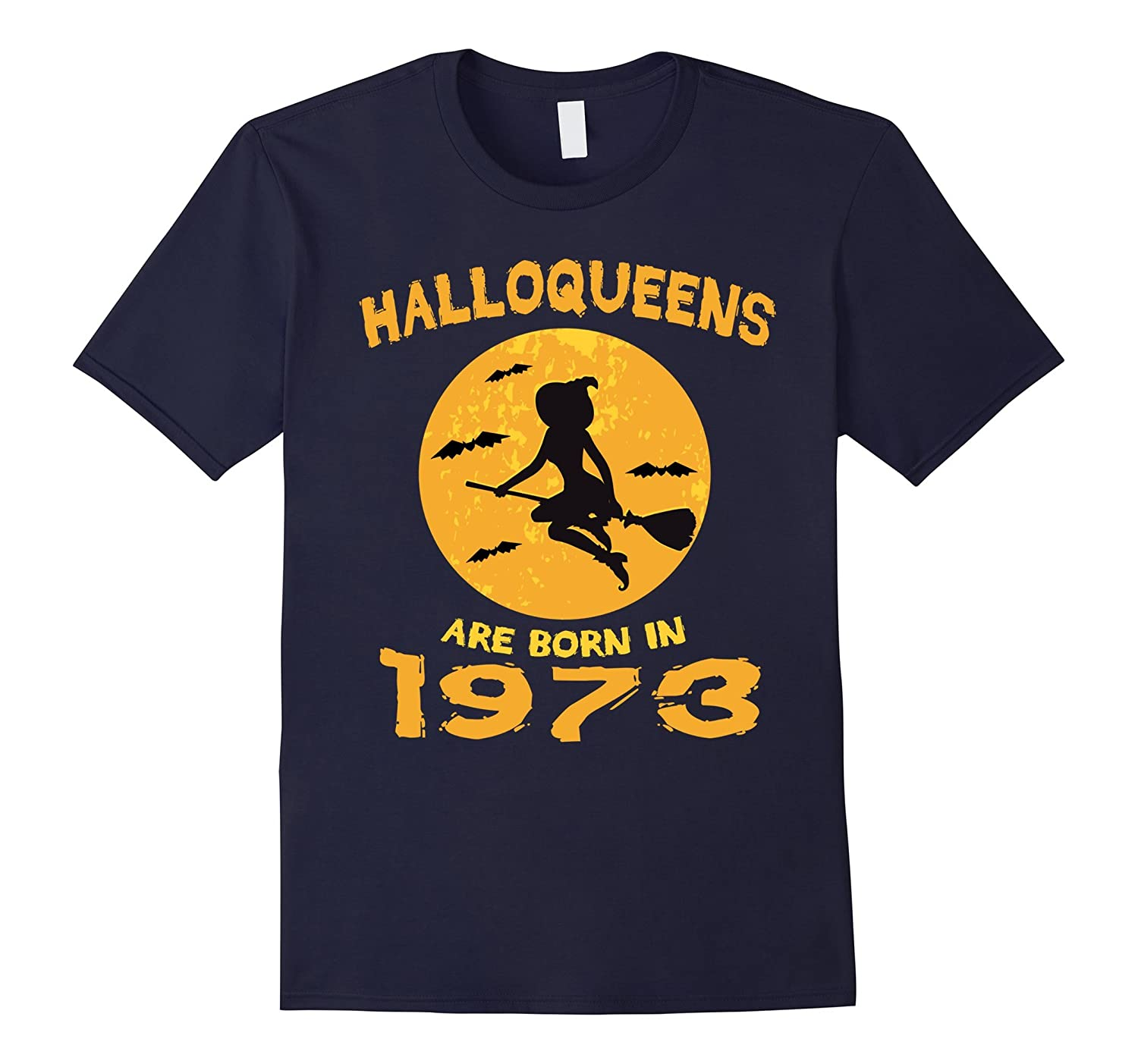 Hallowqueen are born in 1973 T-Shirt 44th Birthday Gift Tee-FL
