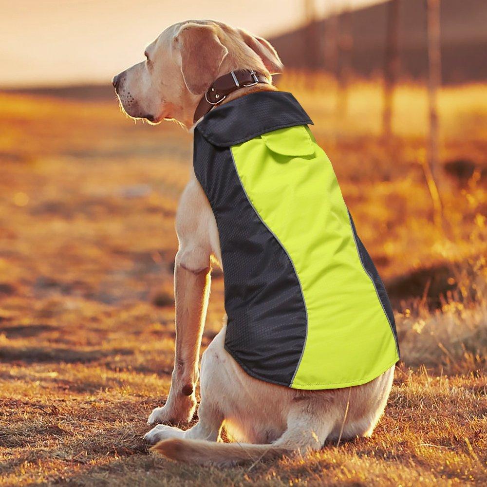 M Ezer Waterproof Dog Coat, Soft Fleece Lining Reflective Pet Jacket for Cold Weather, Outdoor Sports Dog Vest Snowsuit Apparel (M)