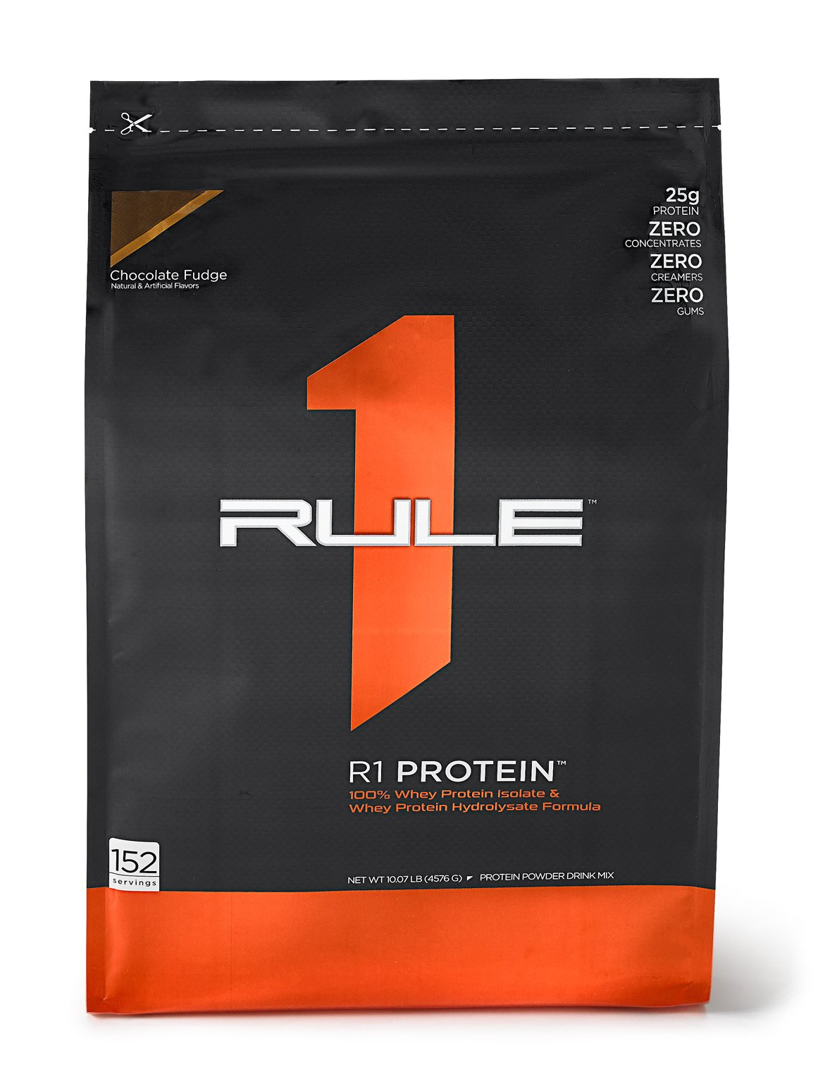 R1 Protein Whey Isolate/Hydrolysate, Rule 1 Proteins (152 Servings, Chocolate Fudge)
