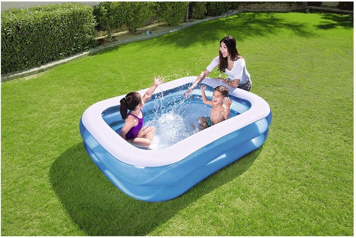 Cute Inflatables Piscina Hinchable Rectangular Familiar Premium Deluxe | Diversion Garantizada Esta Temporada De Verano! | 2.01m x 1.50m x 51cm |