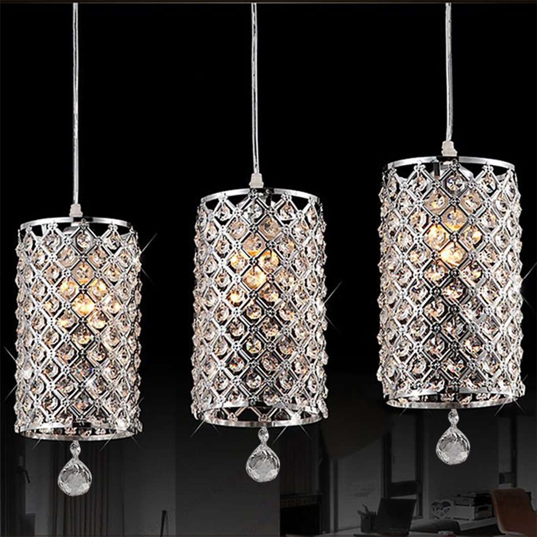Drop Lighting For Kitchen To Modern Crystal Ceiling Light Drops Pendant Lighting With Chain Chandelier Lamp Hanging Light For Drop Lights Kitchen Amazoncom
