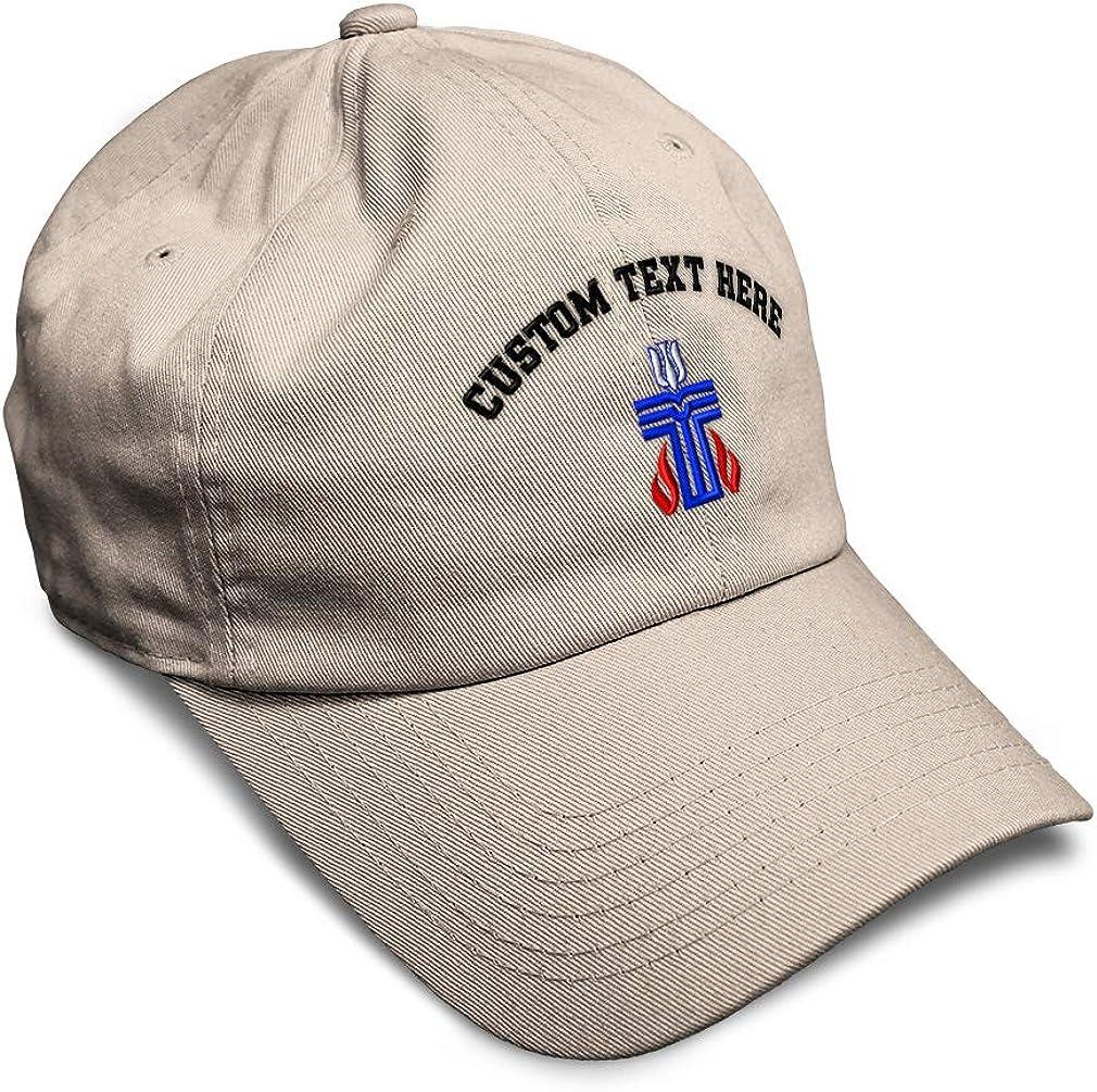 Custom Soft Baseball Cap Presbyterian Cross Embroidery Dad Hats for Men /& Women