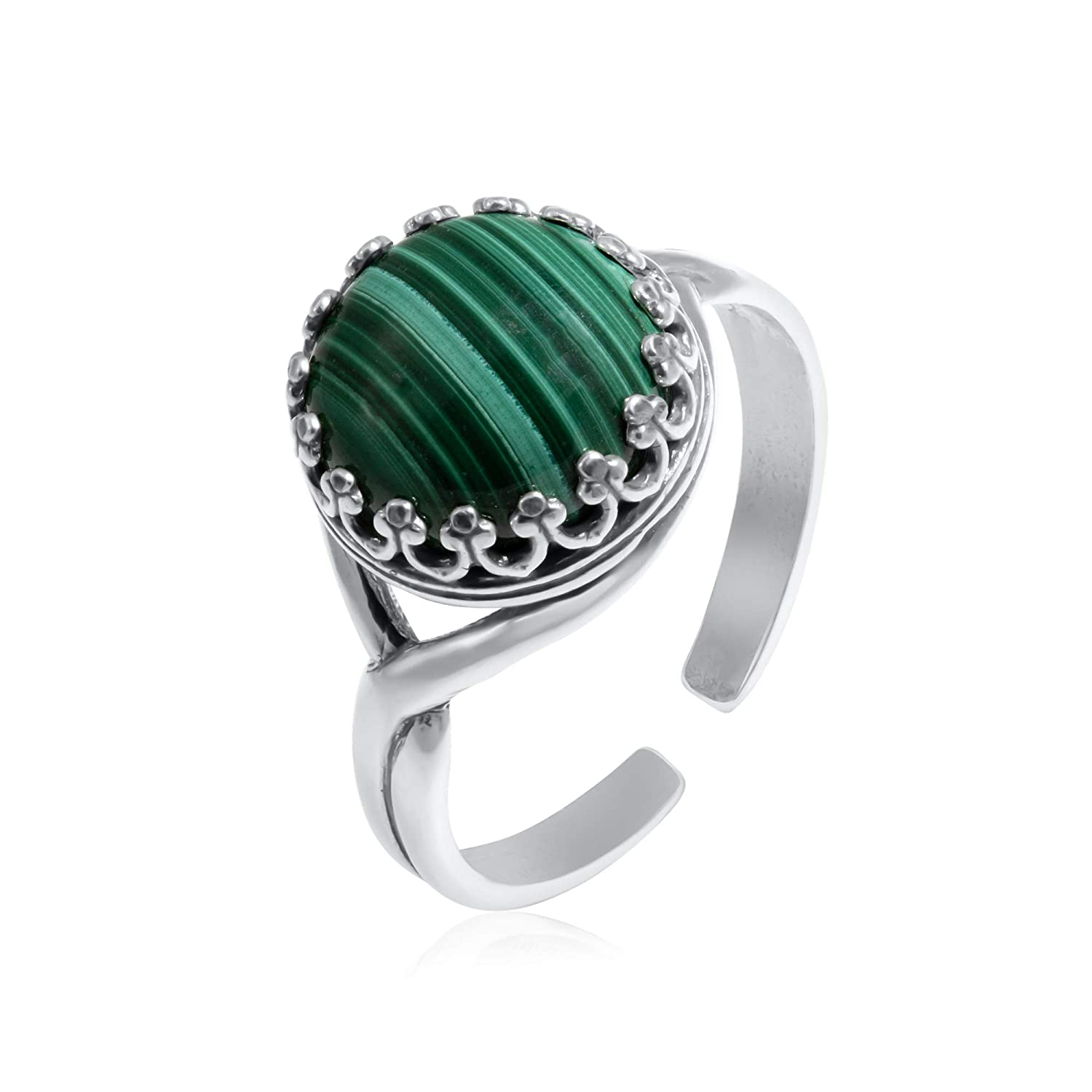 Solid Quality Malachite Oval Gemstone Ring For Father/'s Day Gift ar1499 925 Sterling Silver Ring Gemstone Hand Made Ring Size US 6.25