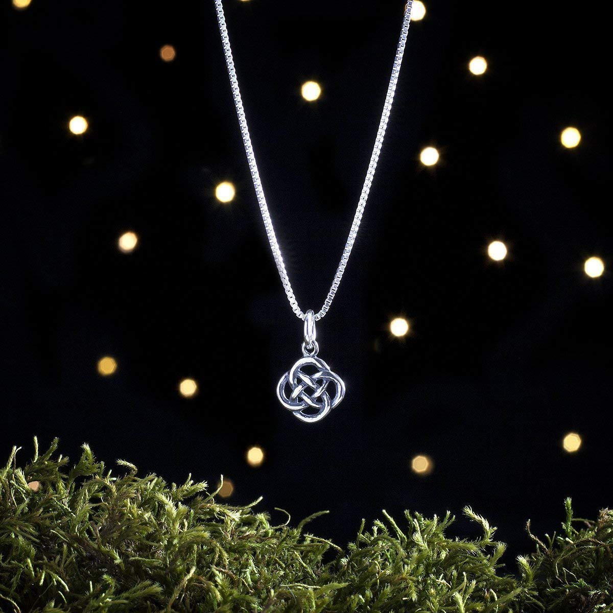 Chain Optional My ORIGINAL Charm Necklace or Earrings STERLING SILVER Tiny Celtic Trinity Love Knot