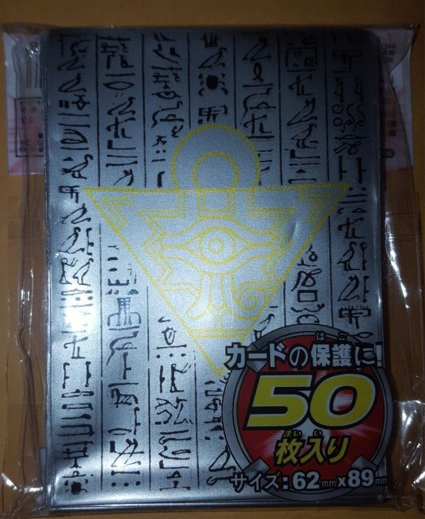 100 YU-GI-OH Standard Size Millenium Puzzle Card Sleeves Clear 100 Pcs 63*90mm