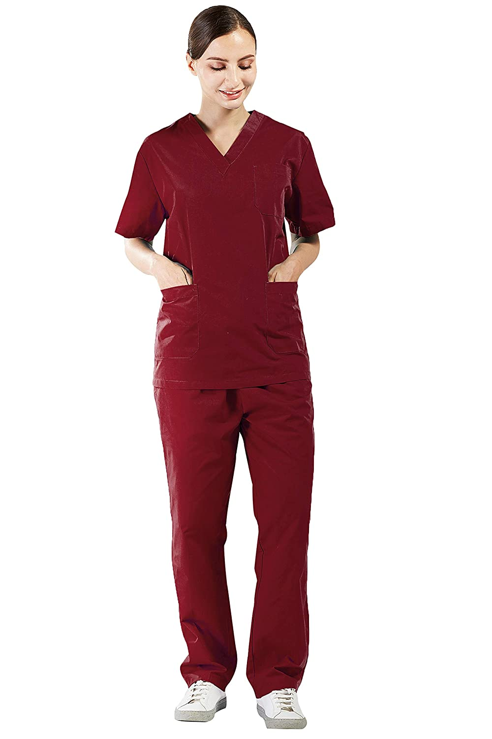 Nanxson Scrub Set Lab Medical Uniforme Donna Uomo Scrub Top e Pant 2 Set PC Unisex Workwear CF9027