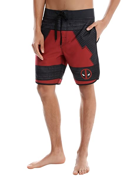 8753ee389c MARVEL DEADPOOL COSPLAY SWIM TRUNKS Mens Size: 32: Amazon.ca: Clothing &  Accessories