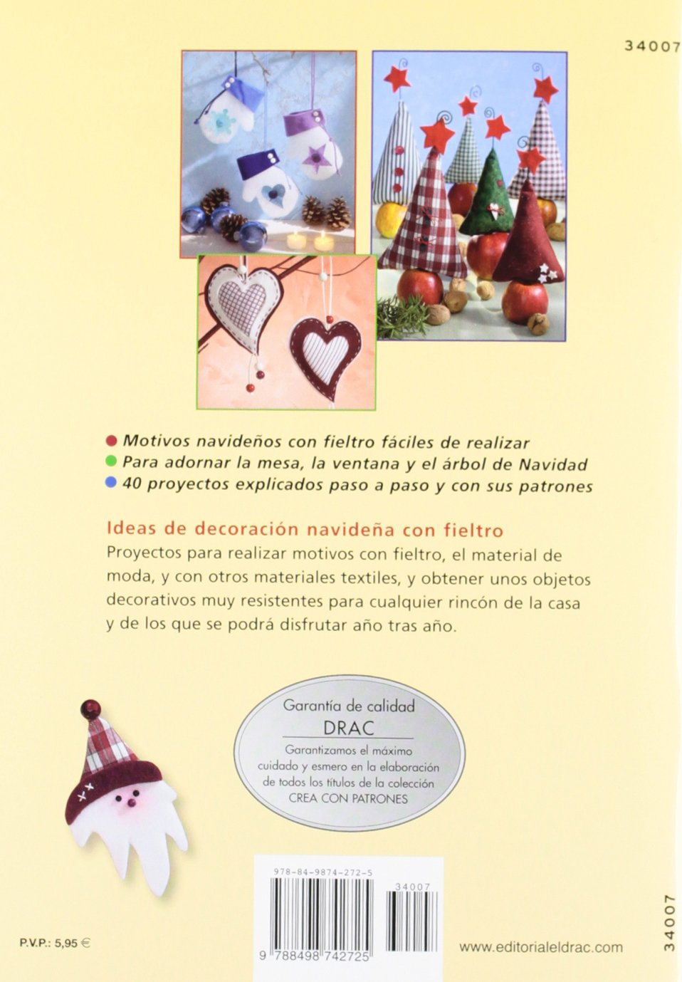 Adornos para decorar la casa en Navidad con fieltro: Martha Steinmeyer: 9788498742725: Amazon.com: Books