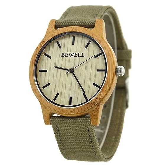Bewell reloj para monsieur, el reloj redondo con 3 agujas de anuncios w134 a: Amazon.es: Relojes