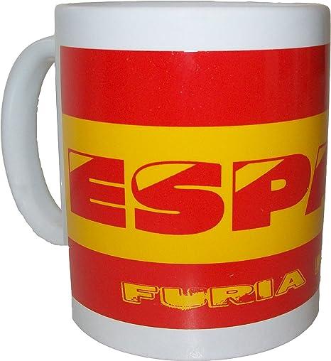 Taza de café, diseño de aficionado de fútbol de España cerámica: Amazon.es: Deportes y aire libre