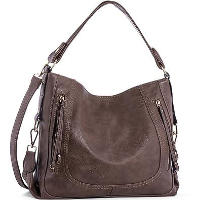 6c866602c914b3 Amazon.com: Handbags for Women,UTAKE Women's Shoulder Bags PU Leather Hobo Handbags  Top-Handle Purse for Ladies: Shoes