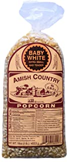 product image for Amish Country Popcorn | 1 lb Bag | Baby White Popcorn Kernels | Old Fashioned with Recipe Guide (Baby White - 1 lb Bag)