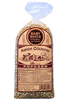 Amish Country Baby White Popcorn Kernel