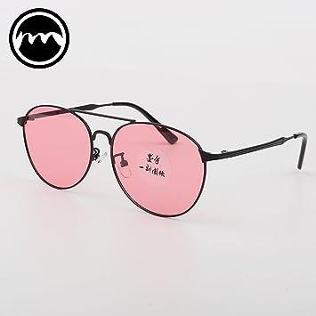 VVIIYJ Color Transparente Espejo de Rana Gafas de Sol de ...