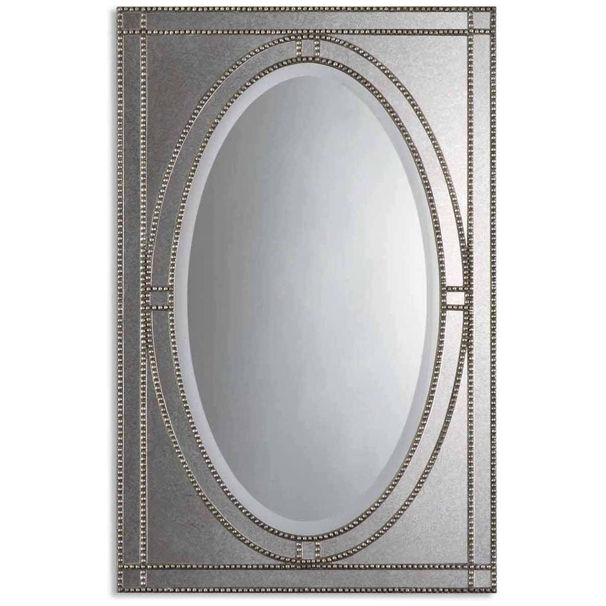 Amazon uttermost 08055 b earnestine mirror antique silver amazon uttermost 08055 b earnestine mirror antique silver home kitchen amipublicfo Gallery