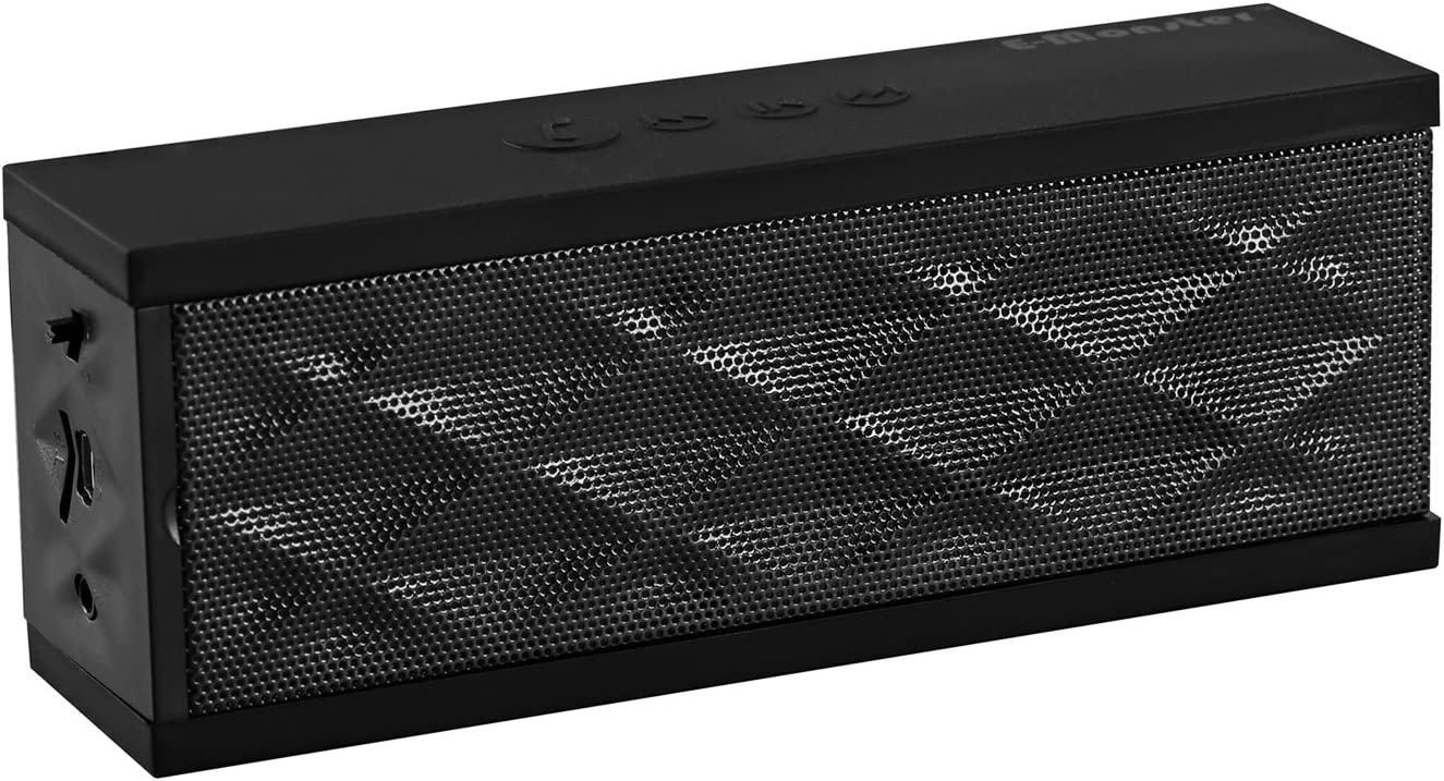 E-Monster Mini Block Ultra-Portable Bluetooth Wireless Speaker. Supports Wireless Music Streaming and Hands-Free Calling. Compare to Jawbone Jambox