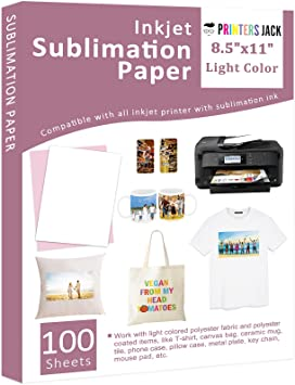 110 Sheets A4 Dye Sublimation Paper Heat Transfer for Polyester Cotton T-Shirts