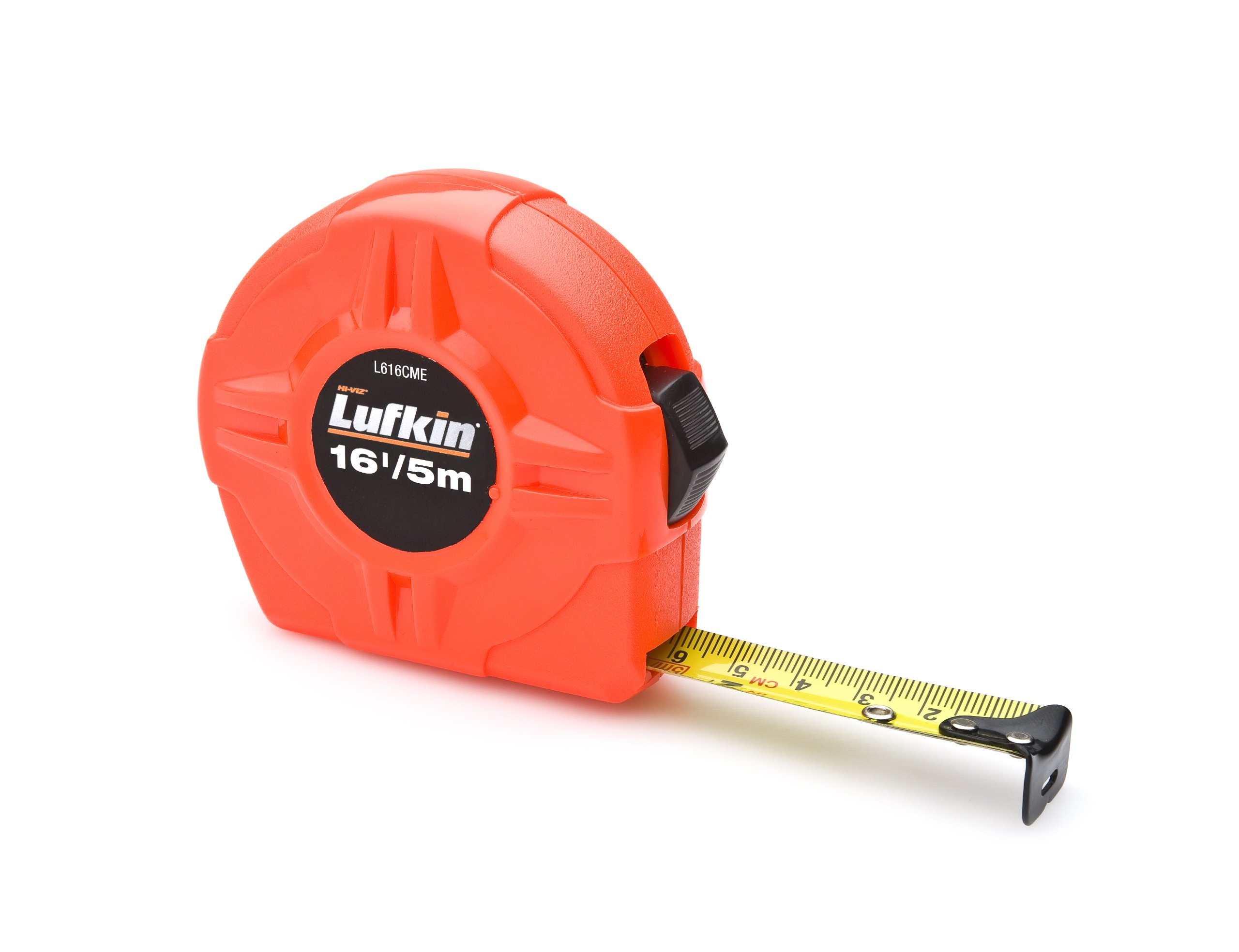 Lufkin L616CME 3/4-Inch/19mm x 16-Foot/5m Hi-Viz Orange Power Return Value Tape