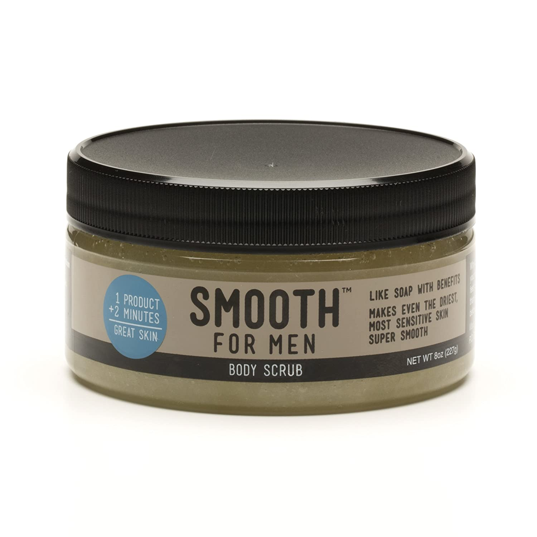 Smooth for Men Vanilla Body Scrub - Formulated for Sensitive Skin - Eczema, Dry Skin, Psoriasis