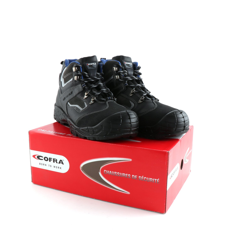 COFRA Sicherheitstiefel Hudson BIS S3 SRC Gr. 44 Arbeitsschuhe und Sicherheitsschuhe Schwarz Arbeitsschutzschuhe