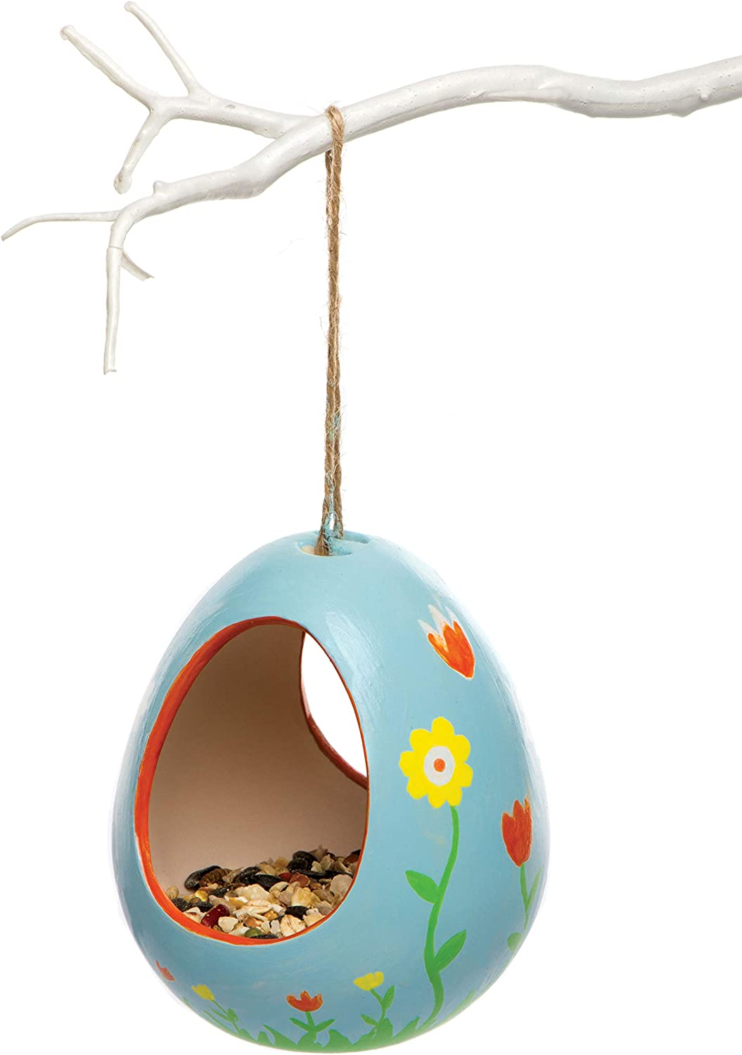 Baker Ross Ar267 Bird Feeders For Crafts Pack Of 2 Ceramic Painting Art Activities For Kids 11cmx9cm Amazon Co Uk Kitchen Home