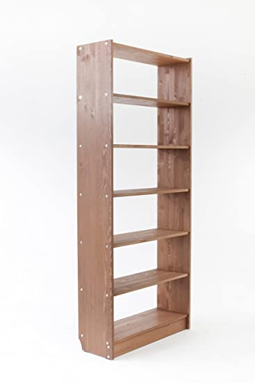 Bücherregal braun  Trendy-Home24 massiv Bücherregal Braun Holzregal Kellerregal Regal ...