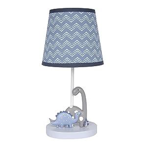 Bedtime Originals Roar Lamp with Shade & Bulb, Blue