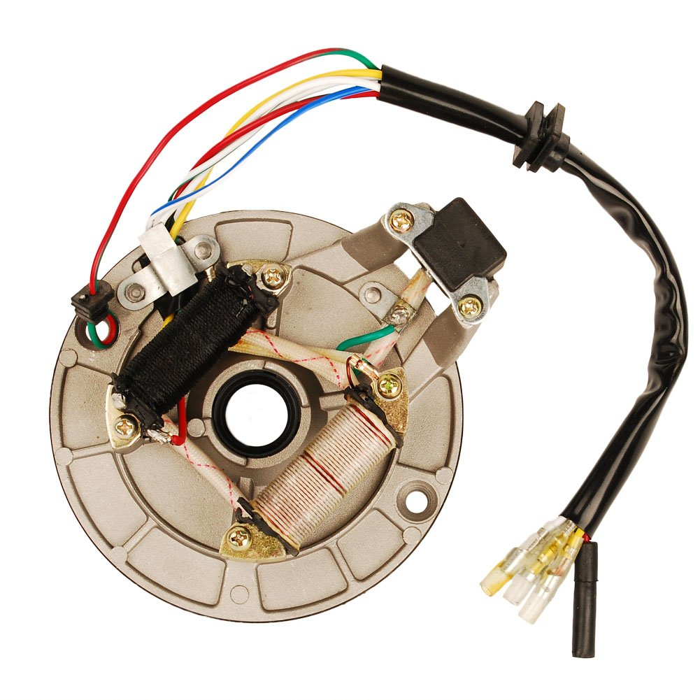HIFROM New Ignition Stator Magneto Plate for Pit Dirt Bike 50cc 70cc 90cc 110cc 125cc 4-stroke Bikes XR50 CRF50 XR70 CRF70 Z50R SDG SSR 107 IS01