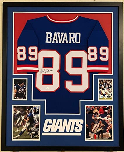 sneakers for cheap 6851e 1101c FRAMED NEW YORK GIANTS MARK BAVARO AUTOGRAPHED SIGNED JERSEY ...