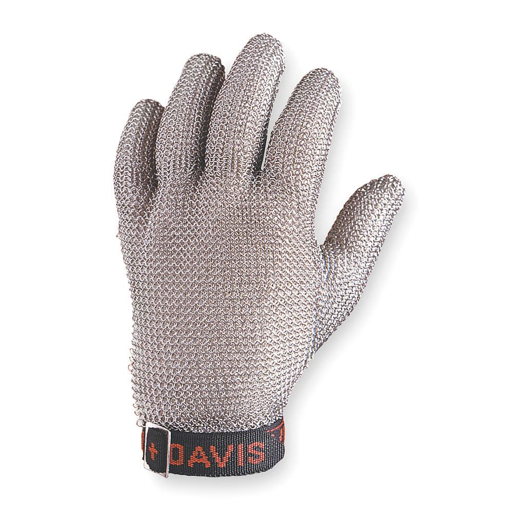 Honeywell A515XS D Whiting & Davis Gray X-Small Stainless Steel Mesh Cut-Resistant Gloves - Uncoated - [Price is per Each] , 4.25'' Height, 6.31'' Wide, 1'' Length