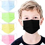 mystcare Kids Disposable Face Mask 50 Pack Ages 5-12 Filter 3-Layer Safety Face Masks for Kids Daily Use