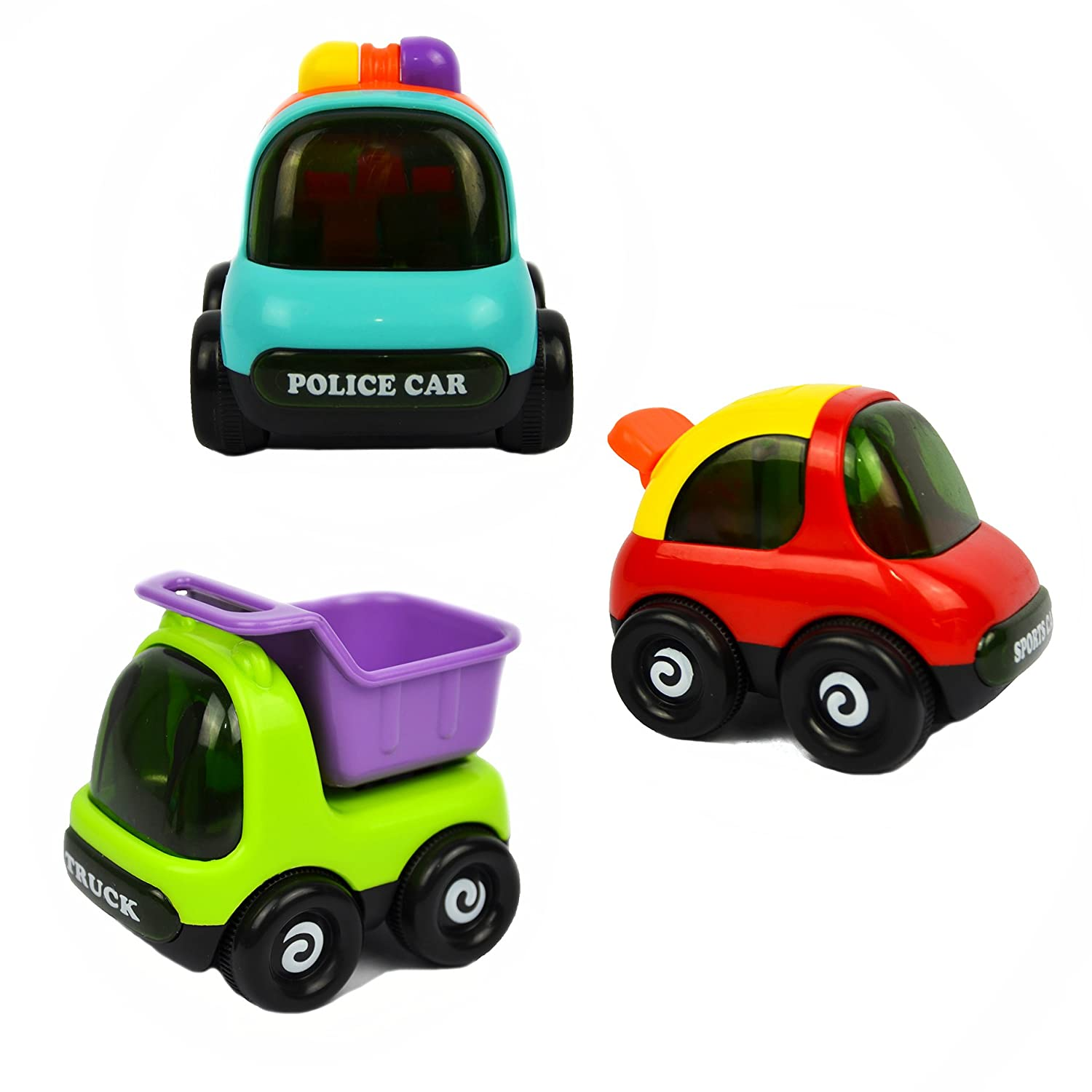Amazon Pictek Cars Toy Set of 3 Play Vehicles Push and Go