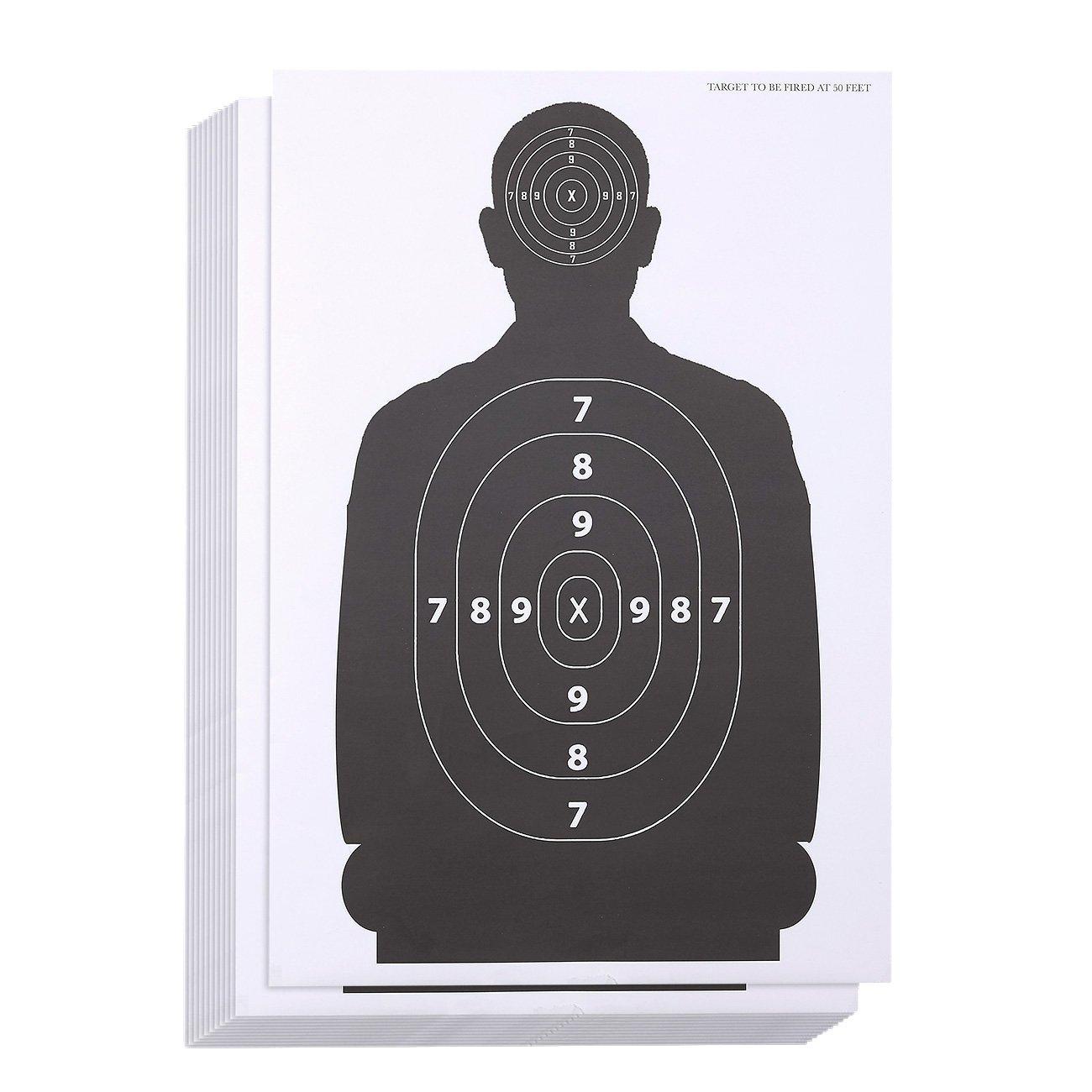 Chargeur cibles pour prise de vue–vue papier cibles, portée Cible de silhouette pour armes à feu, fusils, pistolets, pistolets à BB, airsoft vue Practise–43,2x 63,5cm airsoft vue Practise-43 Blue Panda