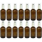 Apotheker-Sprühflasche aus Braunglas Zerstäubereffekt 3 teilig   Füllmenge 20 ml   Fingerzerstäuber Sprühflaschen Pumpsprüher kleine Glasflaschen Parfümzerstäuber Made in Germany