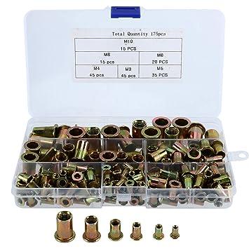 Blindnietmuttern Set M3//M4//M5//M6 100 Stück