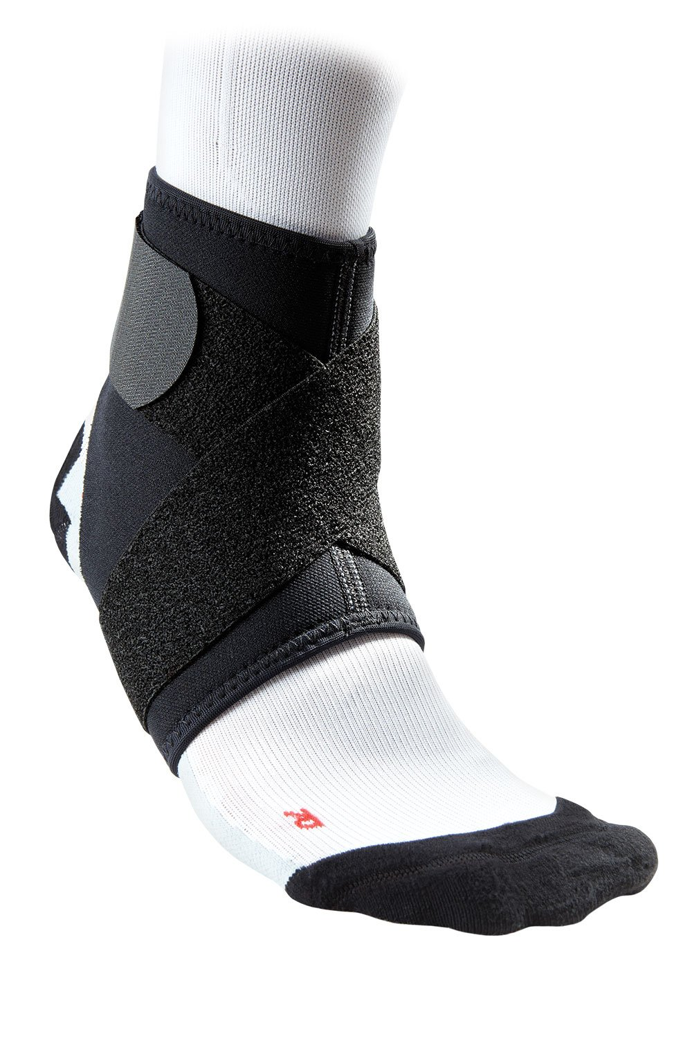 McDavid 432 Ankle Support With Strap (Black, Medium)