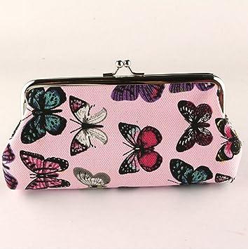 huaji Ladies elegante mariposas estampado Monedero cartera (rosa): Amazon.es: Deportes y aire libre