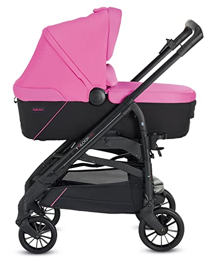 Inglesina TRILOGY COLORS SYSTEM PEGGY PINK con chasis City Black
