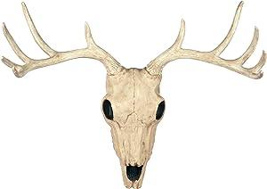 Crazy Bonez Faux Taxidermy 10 Point Buck Deer Skull Hanging Wall Decor, 21.5