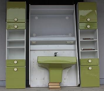 vintage13.de Lavabo de Salle de Bain Style années 70 Vert ...