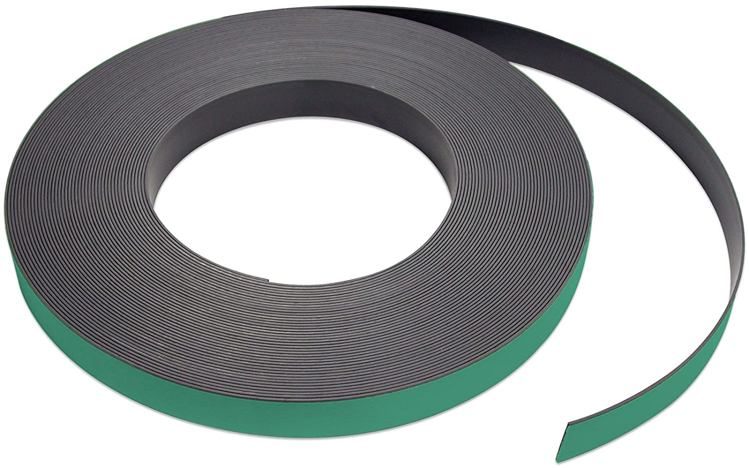 Flexible Magnet Strip with Green Vinyl Coating, 1/32' Thick, 1' Height, 50 Feet, 1 Roll 1/32 Thick 1 Height Master Magnetics Inc. ZGN03040GR/WKS50