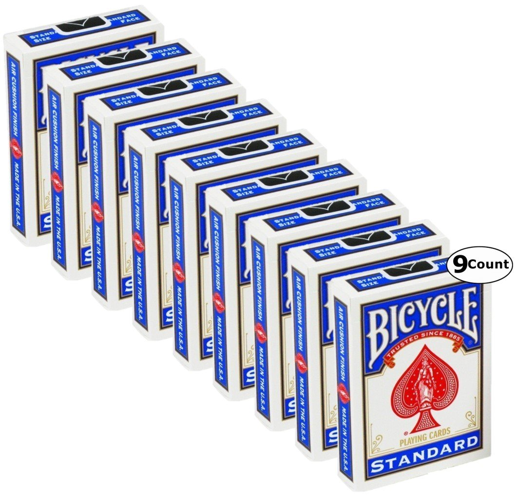 Bicycle Standard Face, Playing Cards Deck, 18 Packs (Red & Blue Color) by Bicycle (Image #3)