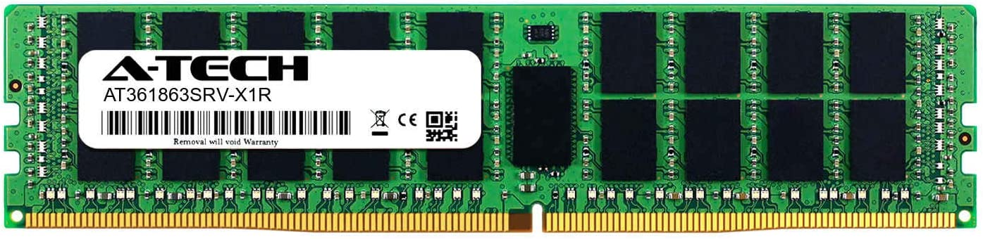 Server Memory Ram A-Tech 16GB Module for Tyan B7079F77CV10HR-2T AT361863SRV-X1R8 DDR4 PC4-21300 2666Mhz ECC Registered RDIMM 1rx4